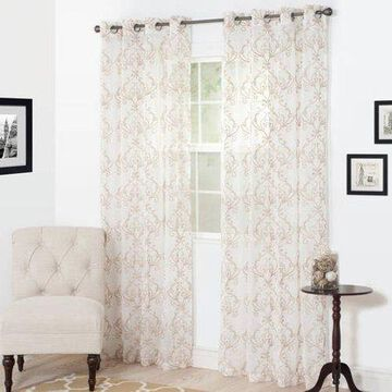 Somerset Home Valencia Embroidered Curtain Panel