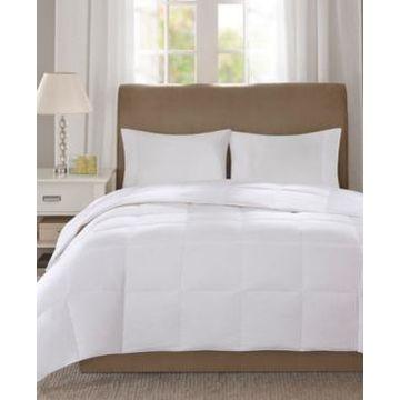 True North by Sleep Philosophy Level 1 300 Thread Count Cotton Sateen White Full/Queen Down Comforter with 3M Scotchgard