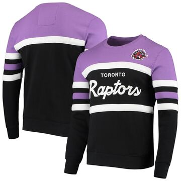 Mitchell & Ness Toronto Raptors Black Script Head Coach Pullover Sweatshirt