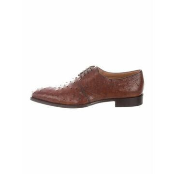 Ostrich Brogues w/ Tags Brown