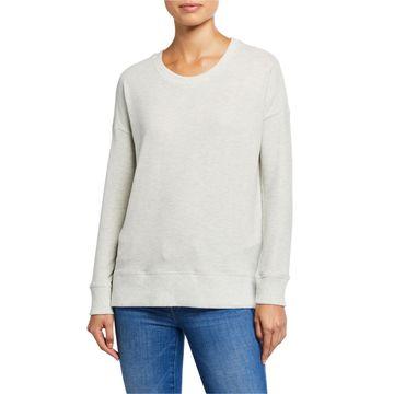 Crewneck Side Slit Sweatshirt