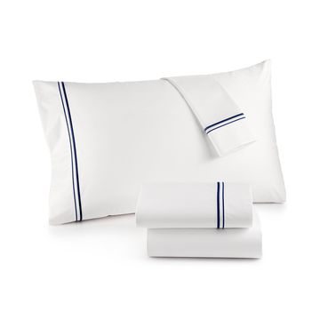 525 Thread Count Cotton Pair of Embroidered King Pillowcases, Created for Macy's