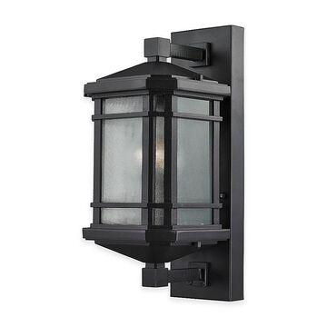 "Elk Lighting Lowell 17"" 1-Light Wall-Mount Outdoor Sconce In Matte Black"