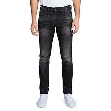 Prps Singapore Double Rip Light Bleach Slim Fit Jeans in Black