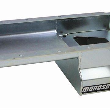 Moroso M28-20142 LS Early Drag-Road Race Oil Pans, Clear zinc