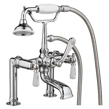 Barclay Brilliant Polished Chrome 3-handle Bathtub And Shower Faucet with Valve