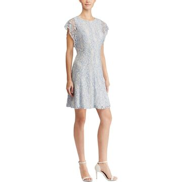 American Living Womens Party Dress Floral Lace