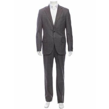 Wool Printed Two-Piece Suit w/ Tags Wool