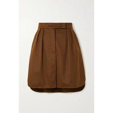 Max Mara - Zorro Camel Hair Mini Skirt - Brown