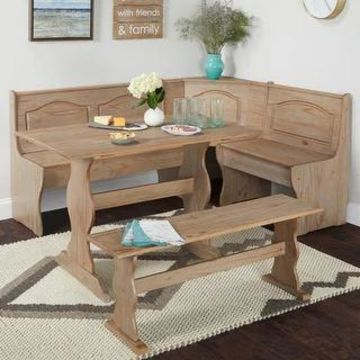 Simple Living Knox Nook Dining Set (Rustic Natural)