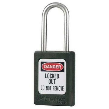 MASTER LOCK S31KAS6BLK Lockout Padlock,KA,Black,1-7/8''H,PK6