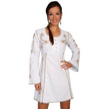 Scully Women's 100% Peruvian Cotton Scoop Neck Dress, PSL-105-BLK-L