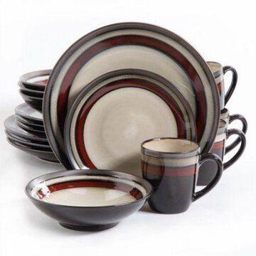 Gibson Lewisville 16pc Dinnerware Set - Red W