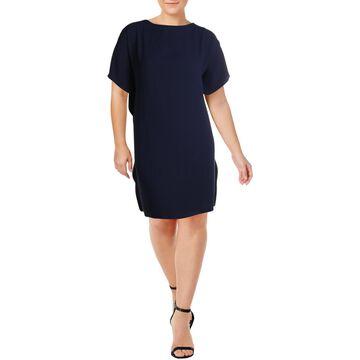 Anne Klein Womens Chiffon Mini Shift Dress
