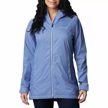 Women's Columbia Switchback Lined Rain Jacket, Size: Small, Light Blue