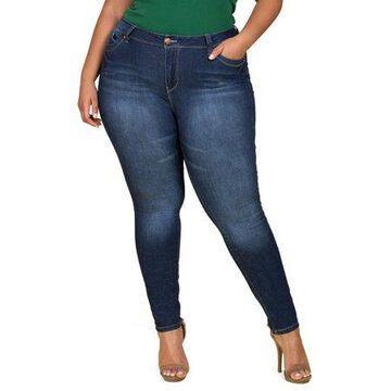 YMI Jeans Juniors' Plus Size WannaBettaButt Mid-Rise Skinny Jean