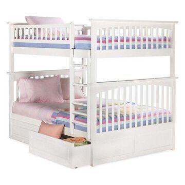 Atlantic Furniture Columbia Full Over Full Storage Bunk Bed, White