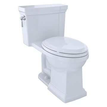 Toto Promenade II Elongated 1.28 GPF Toilet w/ CeFiONtect, Cotton Whit