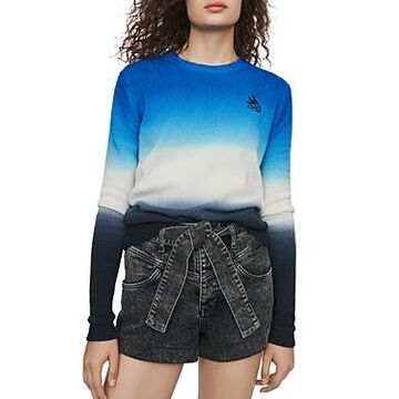 Maje Menphis Embroidered Sweater