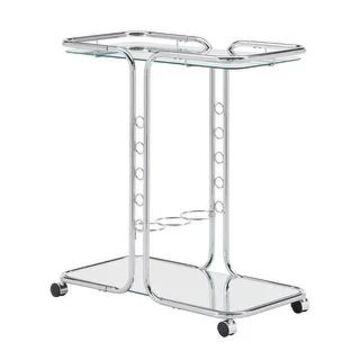 Rosewood Chrome Finish Bar Cart by iNSPIRE Q Bold - Bar Cart (Silver)