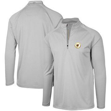 Levelwear San Diego Padres Gray Orion Historic Logo Raglan Quarter-Zip Jacket