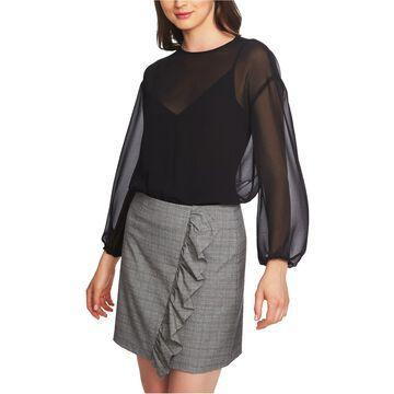 1.STATE Womens Sheer Bodysuit