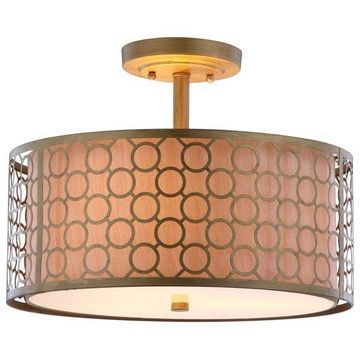 Safavieh Giotta Ceiling Light, Antique Gold