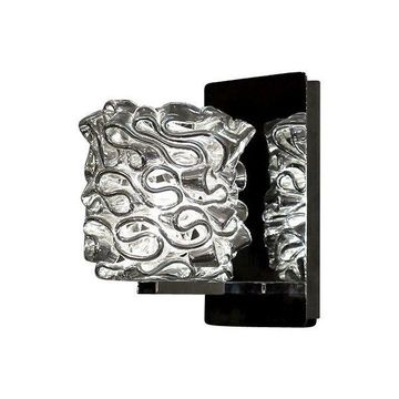 WAC Lighting Candy LED Wall Sconce With Silver Glass, Chrome