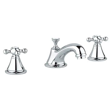 Grohe Seabury Widespread Bathroom Sink Faucet Kit with Cross Handles