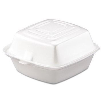 Dart Foam Carryout Food Containers, White, 500 count