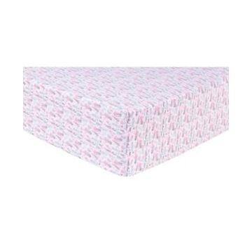 Trend Lab Pastel Painterly Floral Flannel Crib Sheet Bedding