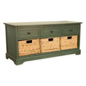 Decor Therapy Montgomery Bench in Teal