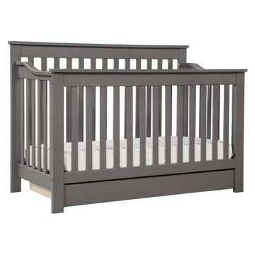 DaVinci Piedmont 4-in-1 Convertible Crib with Toddler Bed Conversion Kit in Slate Finish