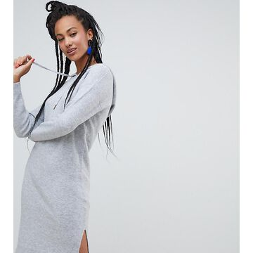 Esprit knitted dress with hood in gray