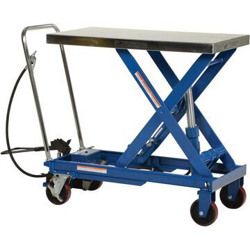 Vestil Scissor Cart - Air Hydraulic, 1,750-Lb. Capacity, 39 1/2Inch L x 20Inch W, Model AIR-1750