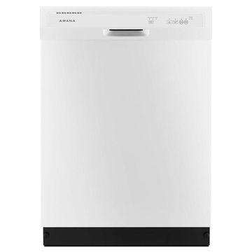 Amana 63-Decibel Front Control 24-in Built-In Dishwasher (White) ENERGY STAR