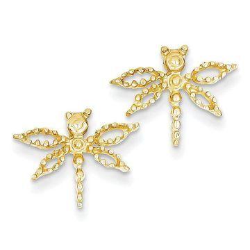 14k Dragonfly Earrings by Versil