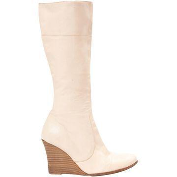 Vanessa Bruno Ecru Leather Boots