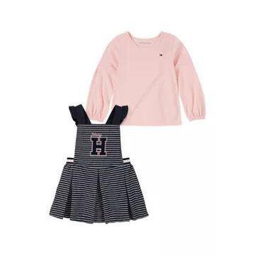Kids Headquarters Girls' Toddler Girls Graphic Jumper And Long Sleeve Shirt Set - -