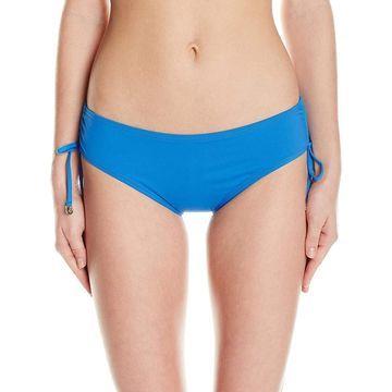 Anne Cole Blue Womens Size XL Ruched Side Bikini Bottom Swimwear