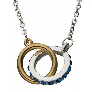 """Star Wars R2-D2 & C3PO Linked Ring Necklace, Women's, Size: 18"""", Multicolor"""