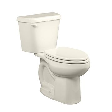 American Standard Colony Linen Elongated Standard Height 2-Piece Toilet 10-in Rough-In Size in Off-White