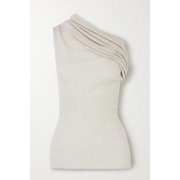Rick Owens - One-shoulder Ribbed Wool Top - Cream