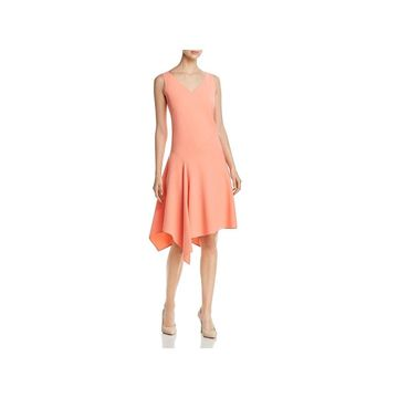 Lafayette 148 New York Womens Wear to Work Dress Asymmetric Sleeveless