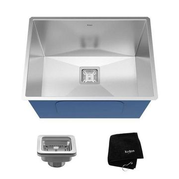 ''Kraus Pax 24'''' Rectangular Undermount 18 Ga. Stainless Steel Laundry Utility Sink''