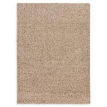 Unique Loom Solid Shag 7' x 10' Area Rug in Taupe