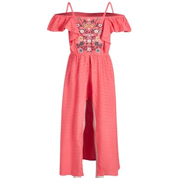 Toddler Girls Embroidered Swiss-Dot Romper Dress, Created for Macy's