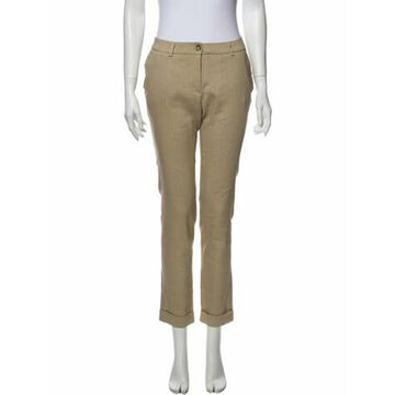 Straight Leg Pants Brown