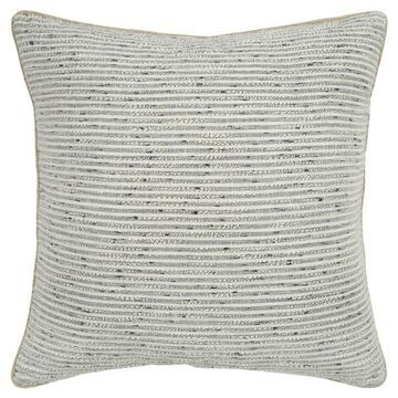 Rizzy Home Cover 20-in x 20-in Light Gray 100% Cotton Burlap Indoor Decorative Cover   T16942