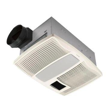 Broan QTX Heater/Fan/Light Series 0.9-Sone 110-CFM Polymeric White Lighted Bathroom Fan and Heater   QTX110HFLT